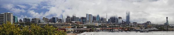 Dallas skyline: Respite from the rain