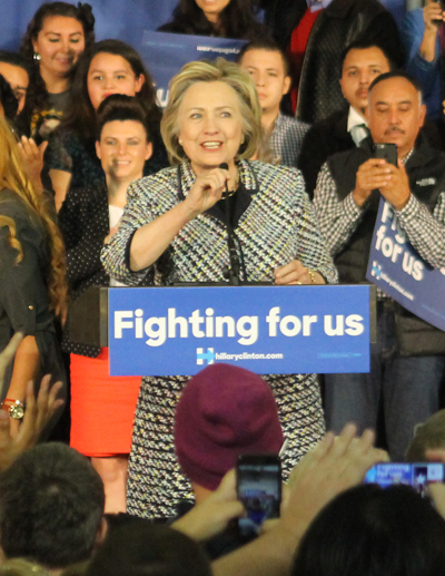 Hillary Clinton speaks at Mountain View College