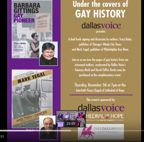 Under the Covers of Gay History: A talk with journalists/authors/ activists Tracy Baim and Mark Segal