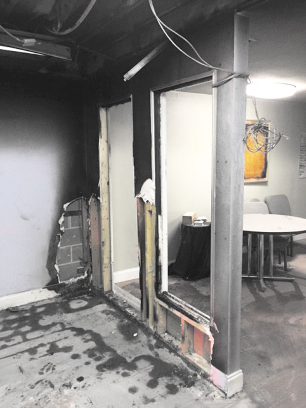 Trinity MCC temporarily relocates after fire