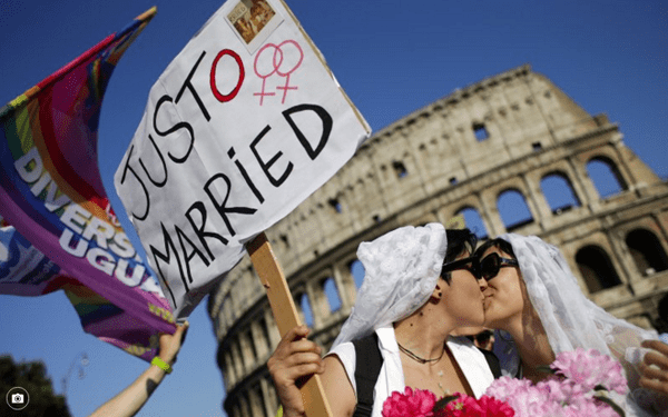 LGBT advocates take to the streets as Italian Senate prepares to debate civil union-type bill