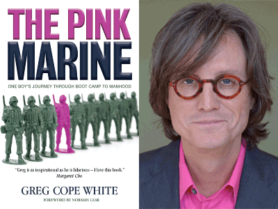 Gay author and former Dallasite Greg Cope White signs book about life in the Marines