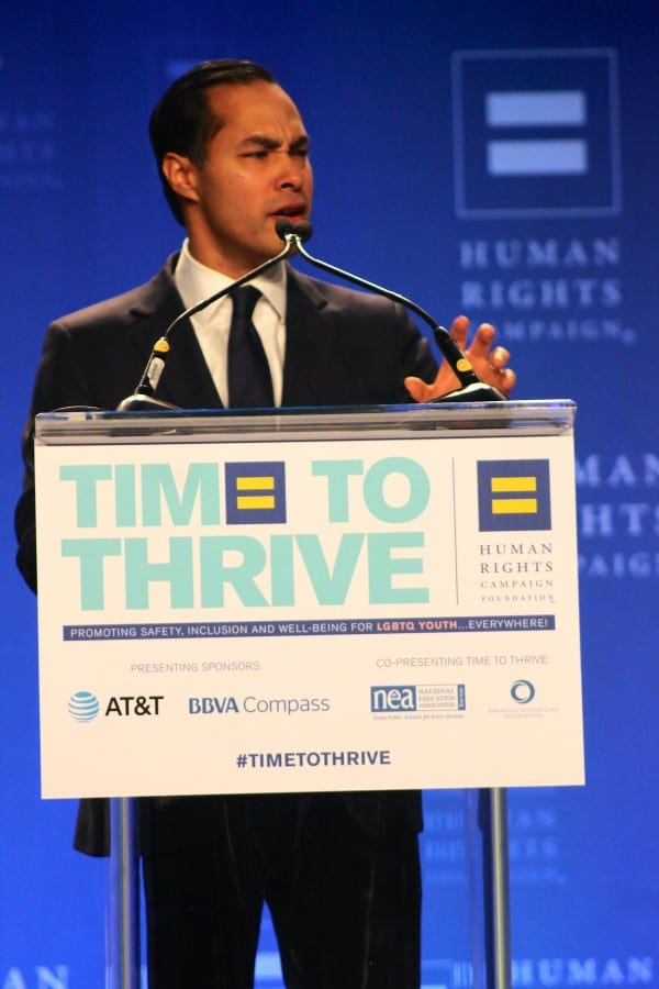 Secretary of Housing and Urban Development Julian Castro speaks at 2016's Time to Thrive conference