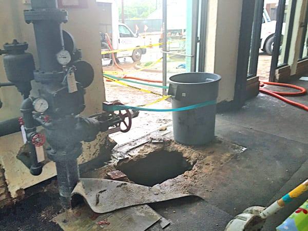 Water main break damages UPS Store, Walgreens on Cedar Springs