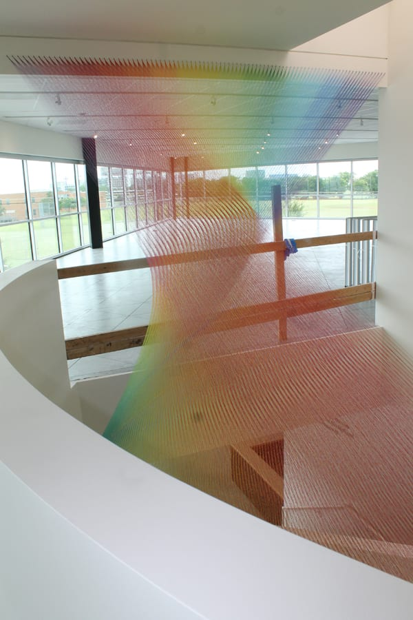 Gabriel Dawe installation dazzles in new Community Center