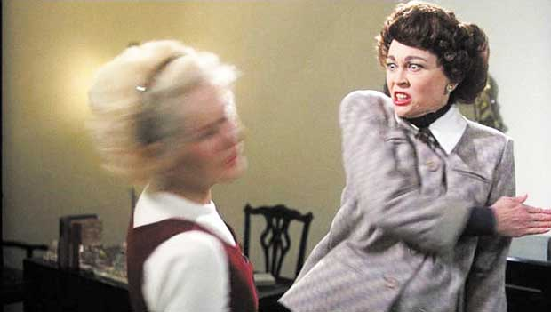 No more wire hangers — ever! Come see 'Mommie Dearest' in the theater!