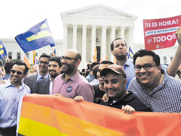 Jesse-Garcia-and-LGBT-Latinos-in-front-of-Supreme-Court---June-26,-2015---Decision-Day
