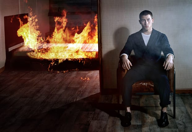 Nick Jonas, all fired up