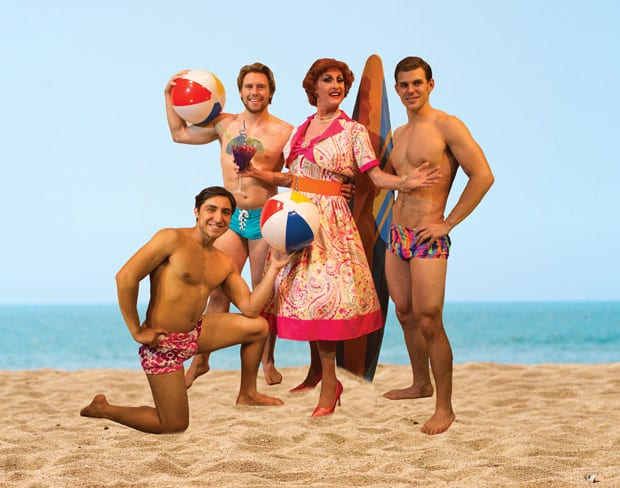 PSYCHO-BEACH-PARTY_L-R_Zach-Valdez_Blake-Lee_Coy-Covington_Jacob-Lewis_Photo-by-Michael-McCray-(SoloShoe-Communications,-LLC)