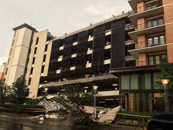 Rain causes Oak Lawn parking garage to collapse