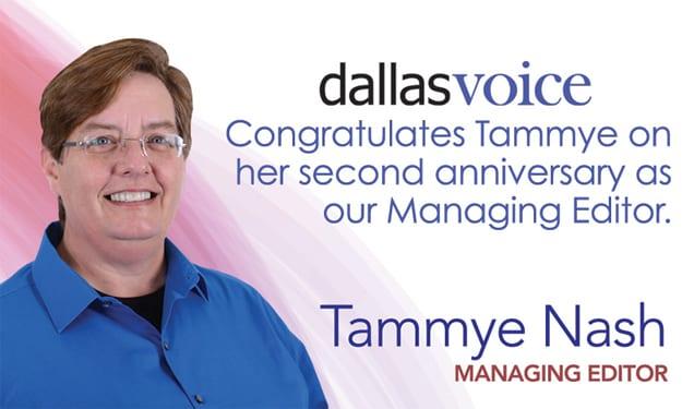 Celebrating Tammye Nash's anniversary as managing editor
