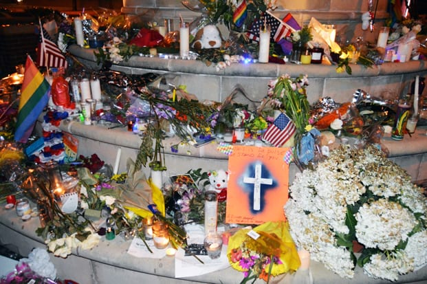 UPDATE: Items from the memorial to Orlando at the Legacy of Love monument have been located