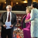 Former Congressman Barney Frank with former Texas Sen. Leticia Van de Putte, center, and Baltimore Mayor Stephanie Rawlings-Blake