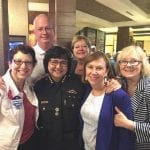 Barbara Rosenberg, Steve A. Tillery, Sheriff Lupe Valdez, Commissioner Theresa Daniel, Martha Williams and Marcia Mainord.