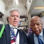 Jay Narey with civil rights icon and U.S. Rep. John Lewis