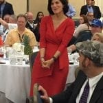 Luci Baines Johnson at the Texas breakfast. Photo courtesy of Barbara Rosenberg.