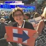 "Barbara Rosenberg posted, ""It's done. We have made history. Hillary is our nominee!"" Photo courtesy of Barbara Rosenberg."