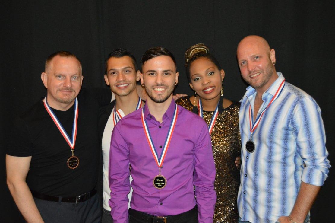 From left: Fourth runner-up Steven Patterson, Guyer, Ramalho, third runner-up Imani Handy and Gilstrap.