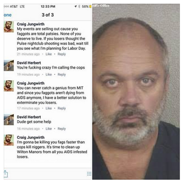 S. Florida man threatens to attack to 'exterminate' gay men