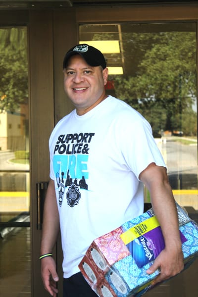 Delivering school supplies to Oak Lawn schools