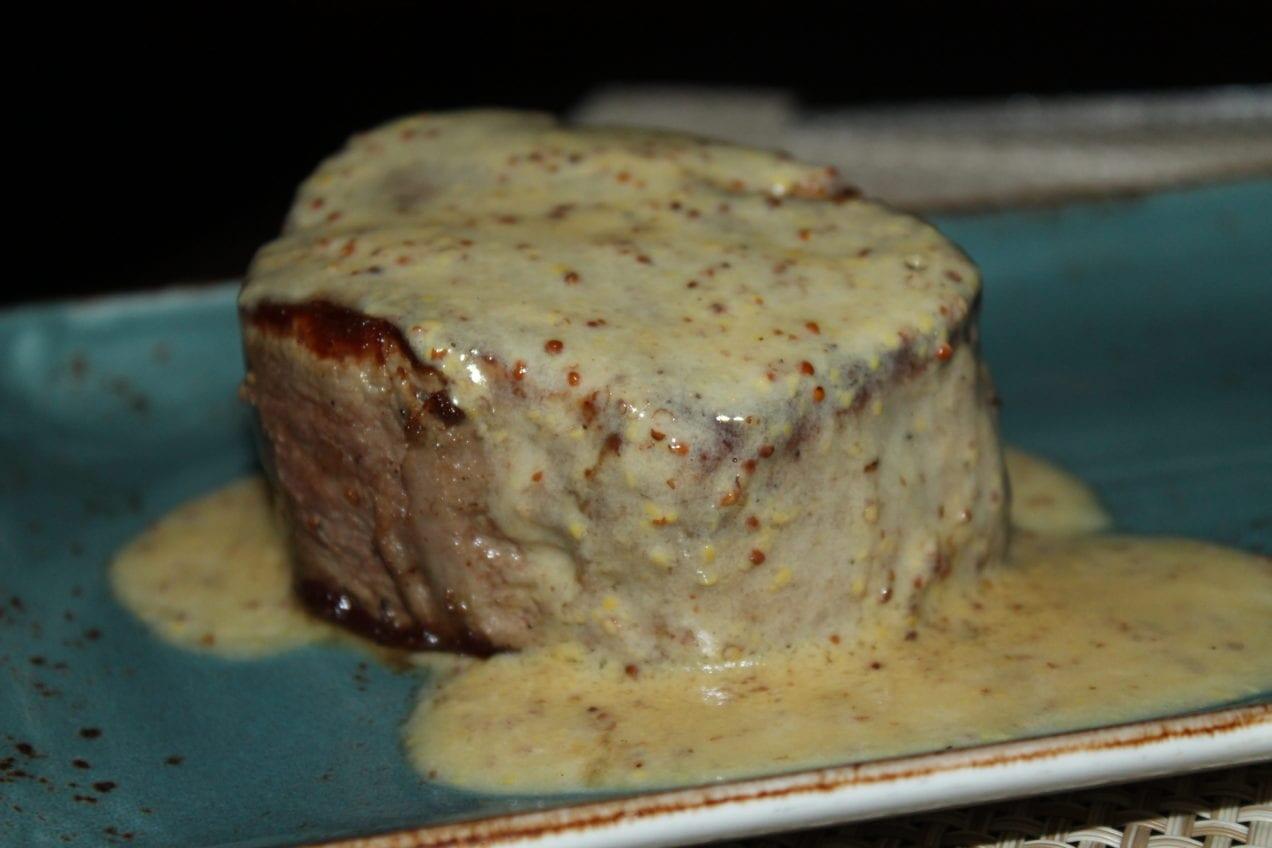 A reimagined version of steak Diane