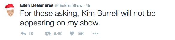 Burrell won't appear on 'Ellen'