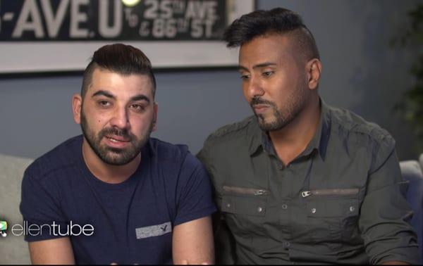 Ellen interviews gay Iraqi immigrant couple