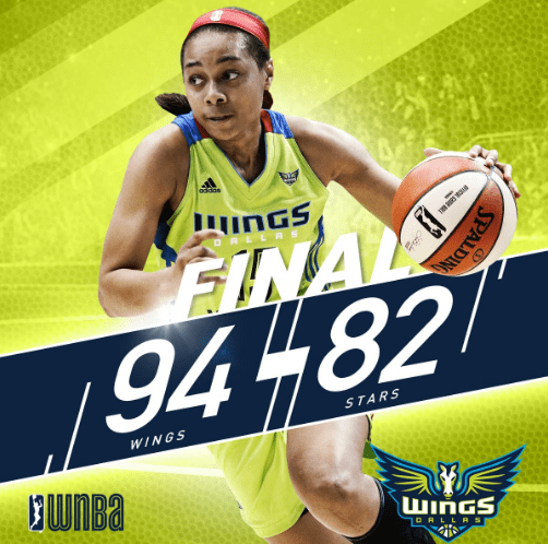 Dallas Wings beat San Antonio Stars 94-82