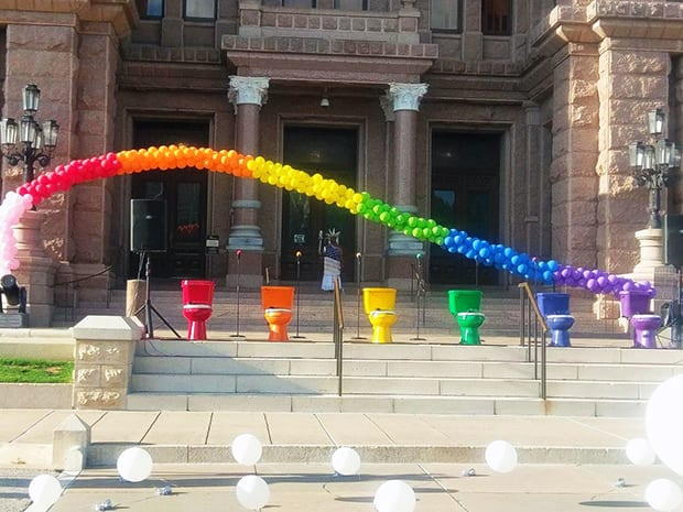 Celebrating Pride and peeing in Austin