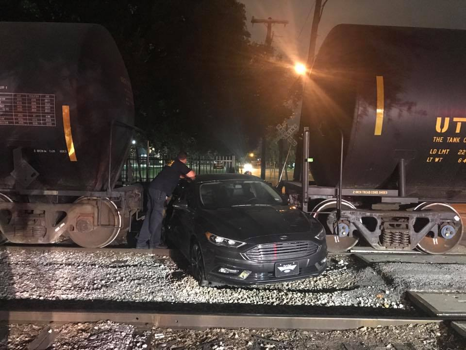 Chorale director survives crash with train