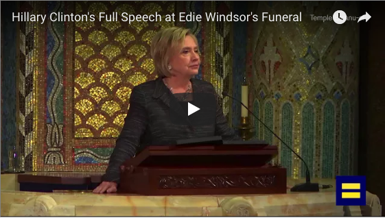 Hillary's eulogy for Edie Windsor