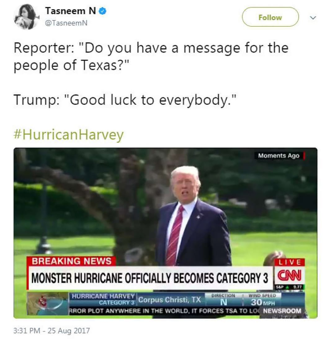 TrendingTEA, Episode 2: Hurricane Harvey, Donald Trump, and our rising complacency