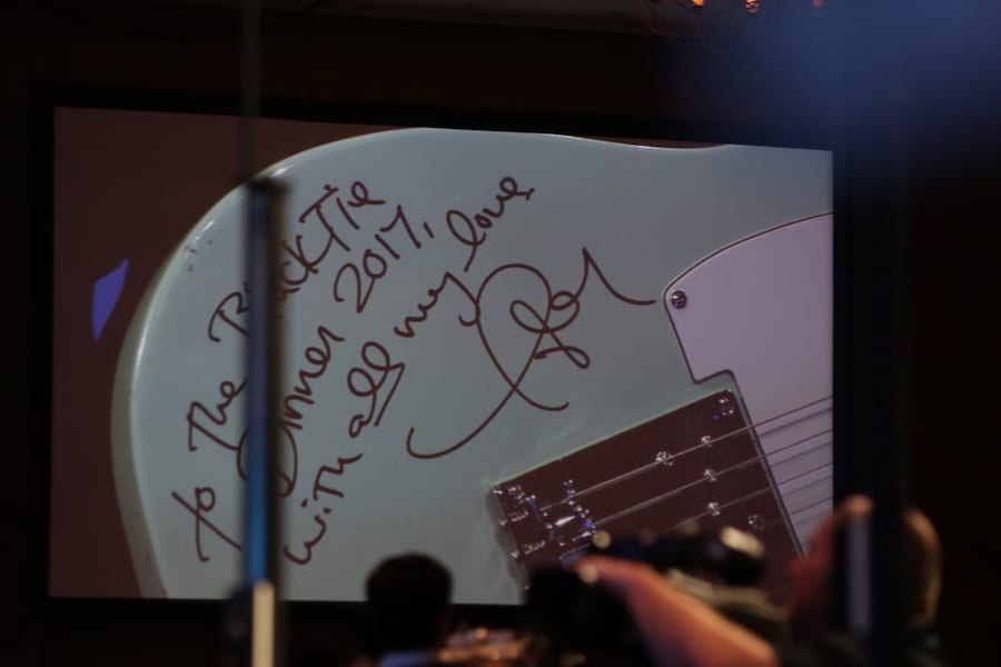 Live auction item: Taylor Swift's guitar