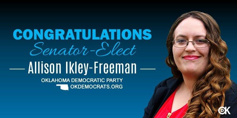 Second lesbian wins Oklahoma Senate seat