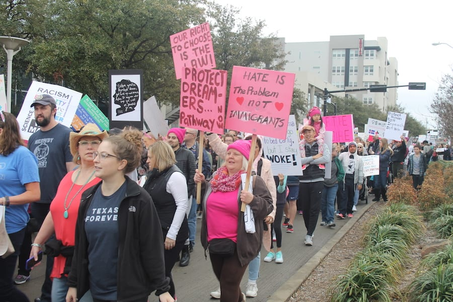 PHOTOS: Dallas Women's March and Impeach Trump rally