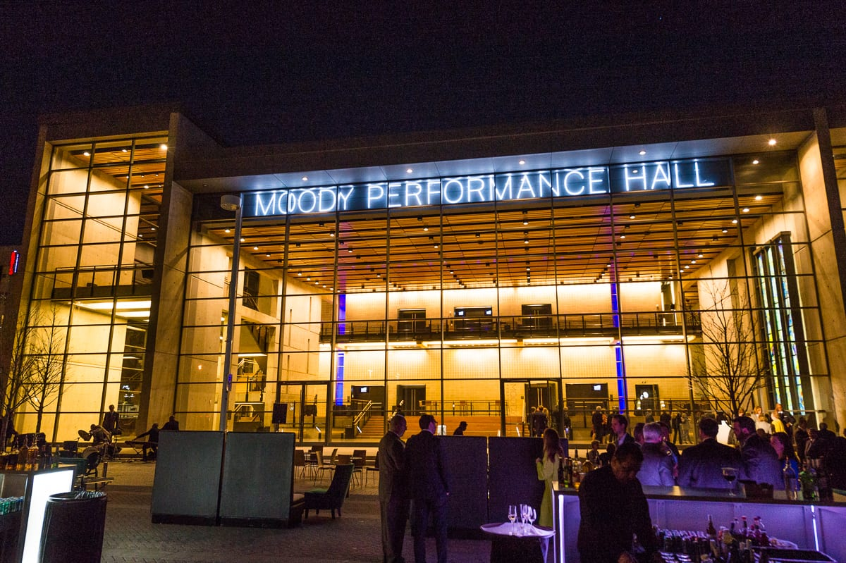 Moody Performance Hall lights up new signage
