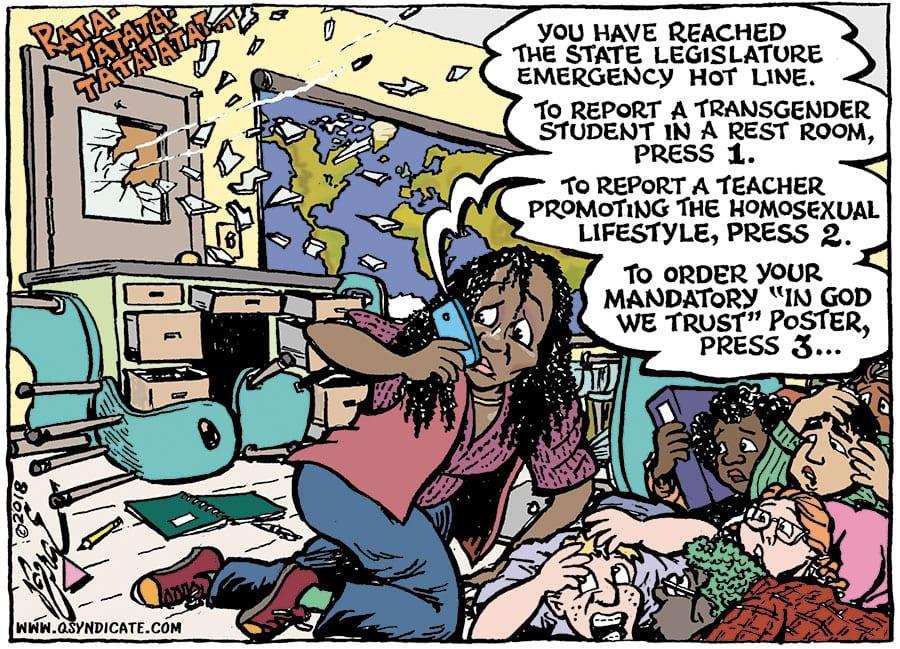 Editorial cartoon • 03-02-18