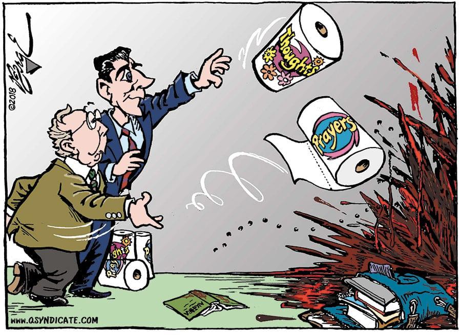 Editorial cartoon • 02-23-18