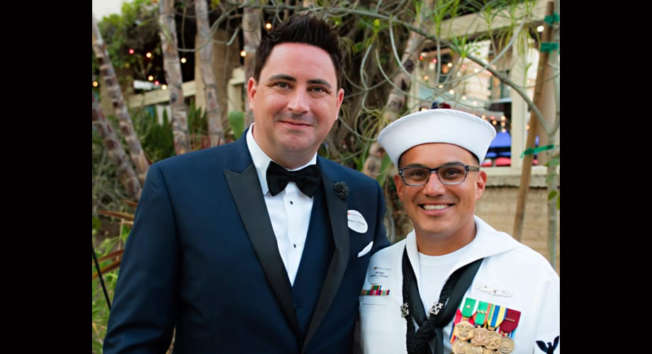 Gay man named Navy Spouse of the Year