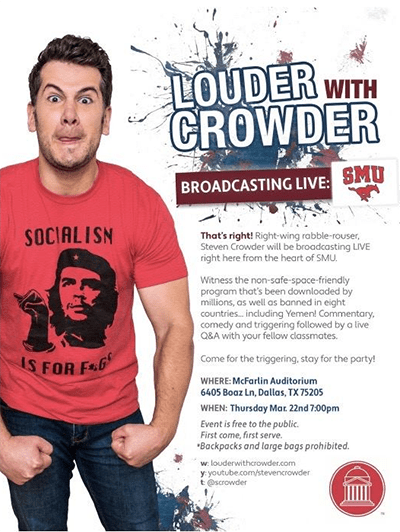 LGBT student group to protest Steven Crowder event at SMU