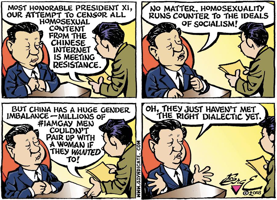 Editorial cartoon • 04-20-18