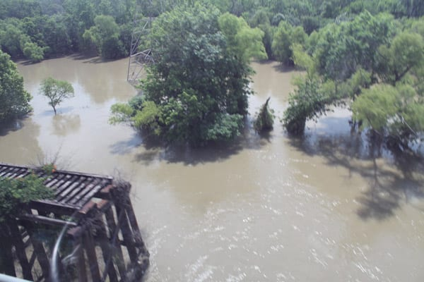 River flooding continues