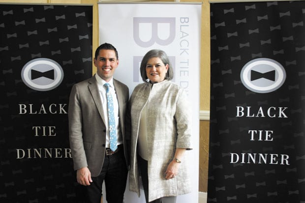 Behind the Tie: DVtv at the Black Tie Dinner beneficiary announcement party