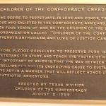 Children of the Confederacy Creed plaque is coming down