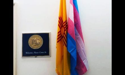 2nd trans Pride flag on display in the halls of Congress