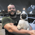Out-and-About---Jerod-and-Melania-the-pug