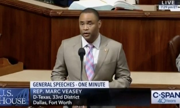 Mark Veasey honors Muhlaysia Booker in the U.S. House