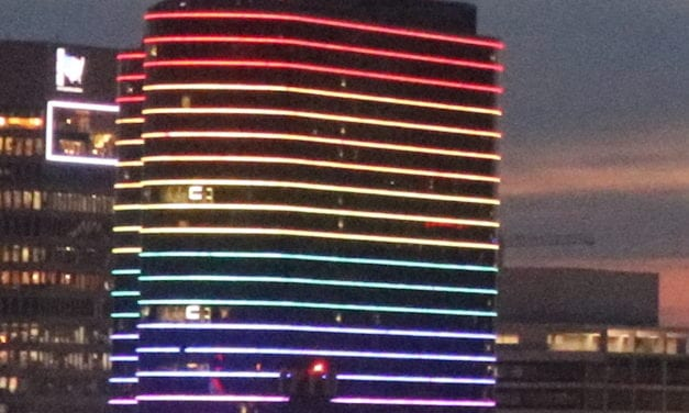 Downtown Dallas lights up for Pride