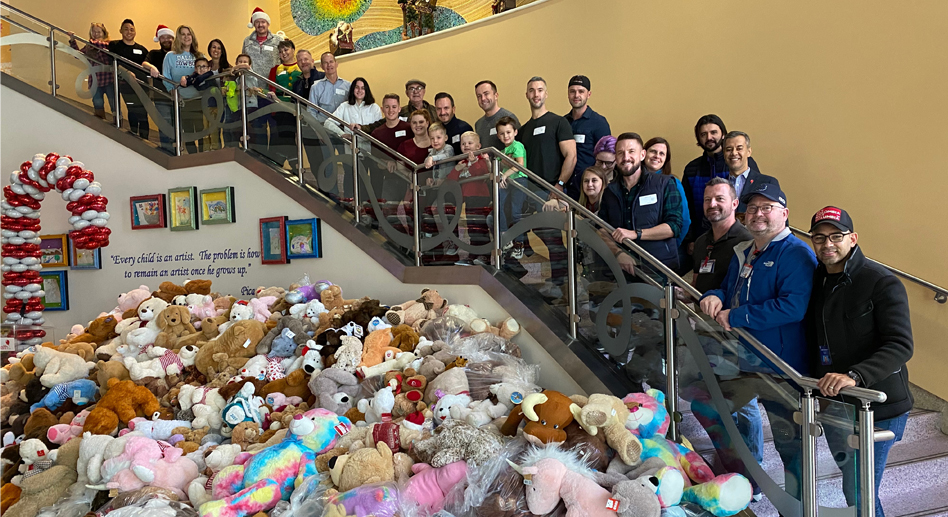 A tidal wave of teddy bears