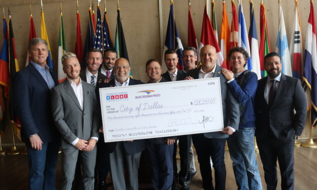 LGBT Chamber presents city with check for rainbow crosswalks
